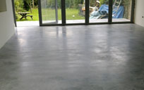 concrete floor after sealing