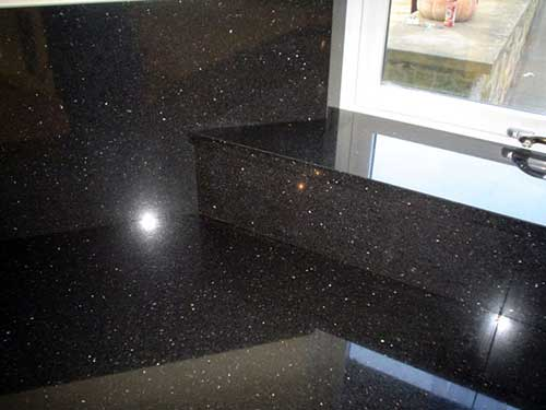 black granite window side