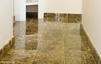 marble tiles after sealing
