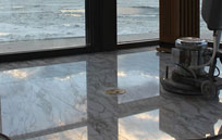 shiny sealed marble floor