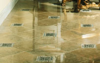 msealed marble floor with a natural look