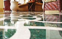 shiny sealed marble floor Protected from Acid Etching