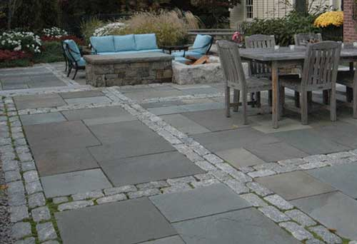traditional patio pavers