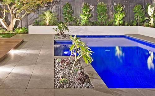 Sandstone contemporary pool for Easy pool obi